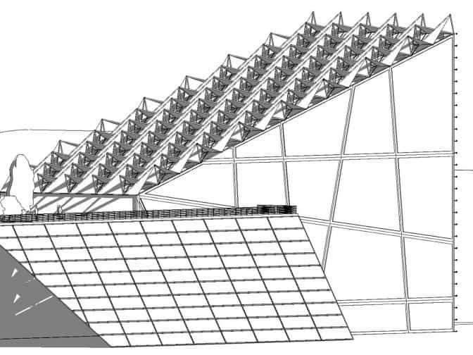 projekt koncepcyjny lotniska wykonany w revit