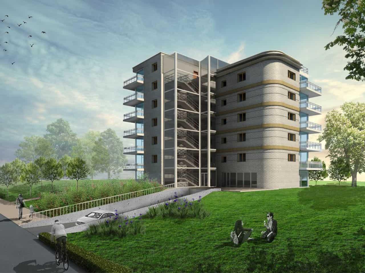 wizualizacja model budynku revit