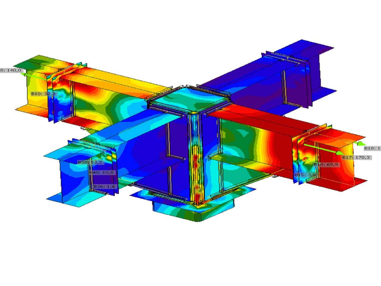 zaawansowany model wykonany w programie robot analysis