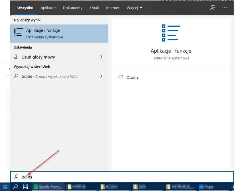 aplikacje i funkcje w systemie windows