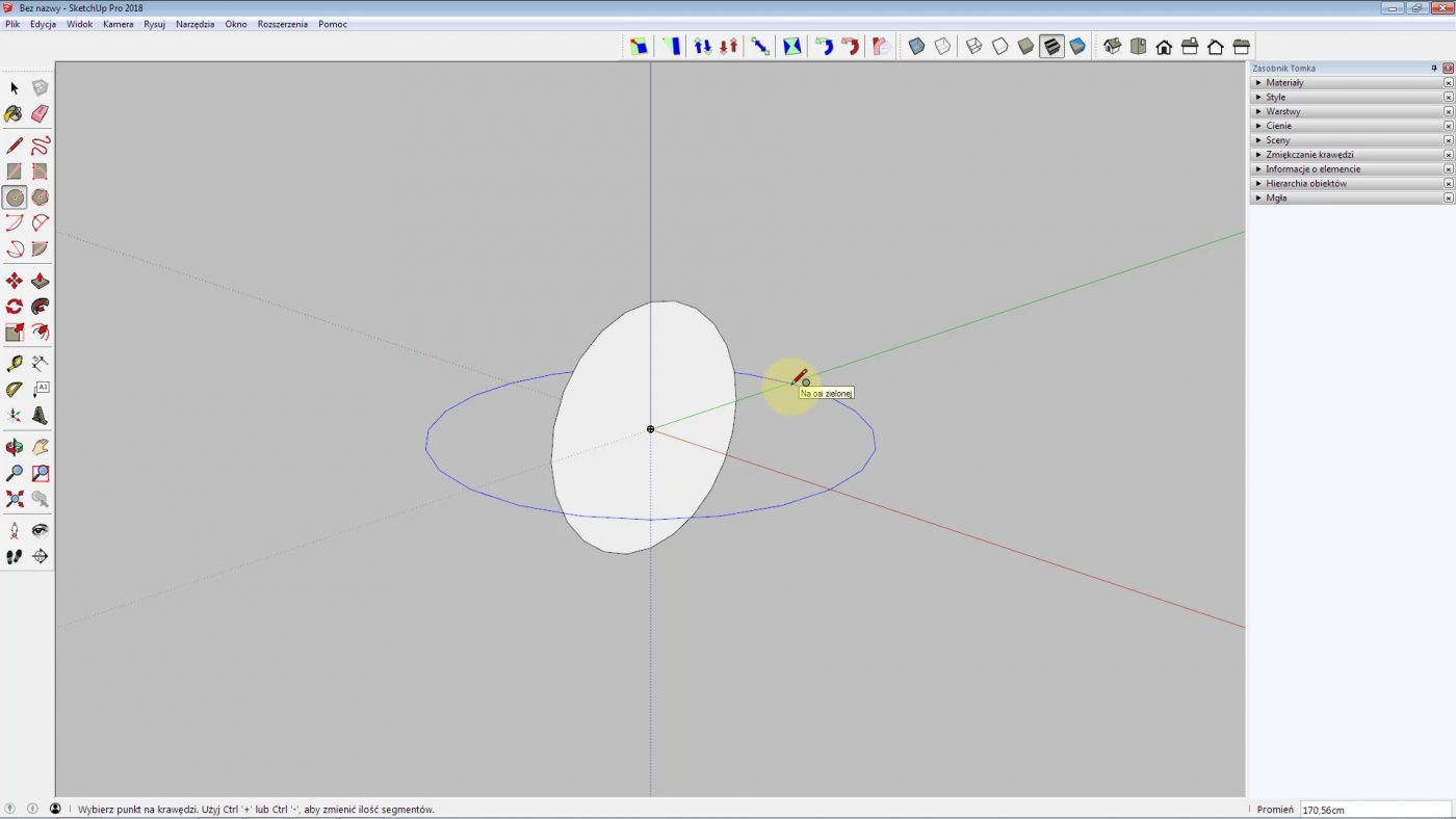 jak narysowac kule w sketchup krok 3