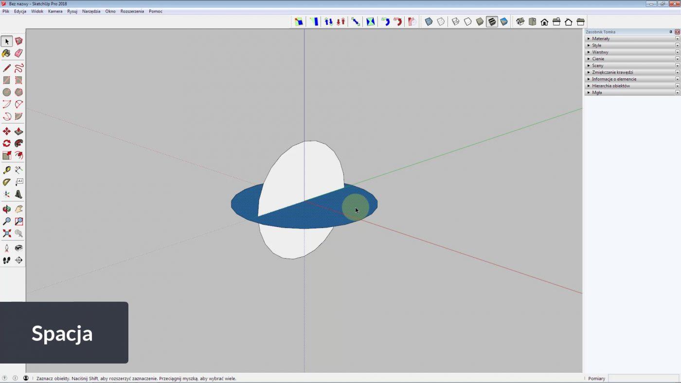 jak narysować kulę w sketchup krok 2