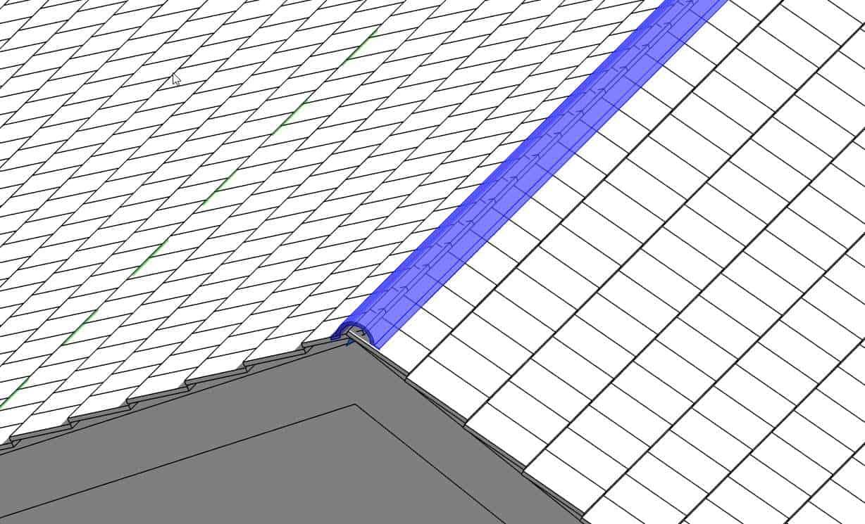 kalenica dachowka revit dach